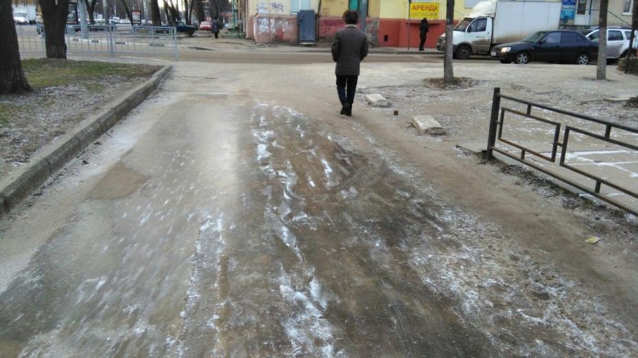 ВВоронеже из-за выпавшего снега получили травмы 376 человек