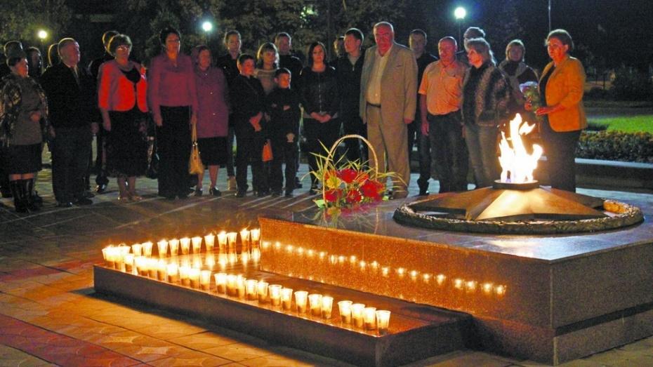 В Таловском районе в честь погибших красноармейцев зажгли «Свечу памяти»