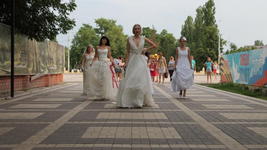 В Борисоглебске прошел парад невест