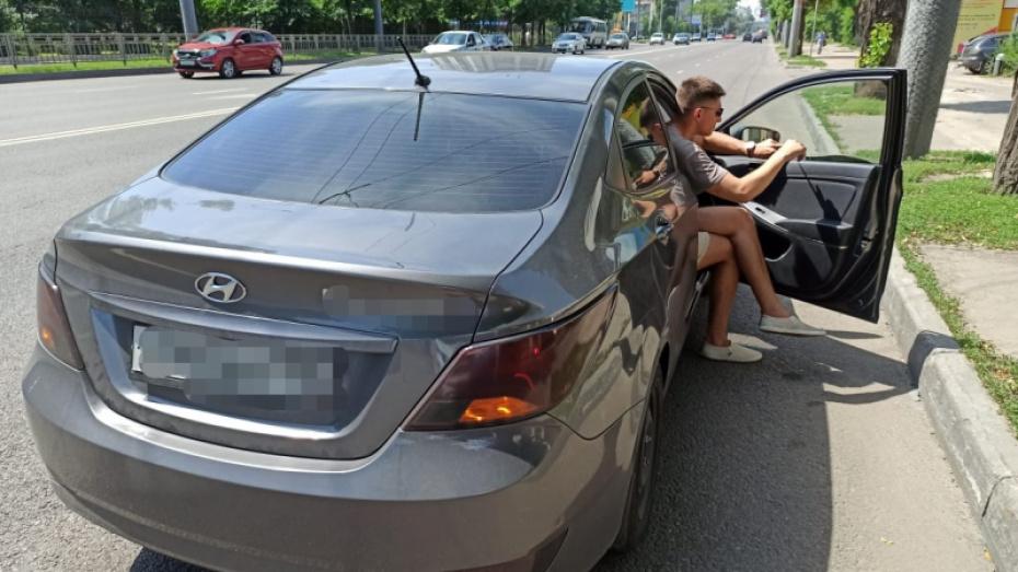 В Воронеже 24-летнего водителя арестовали за тонировку