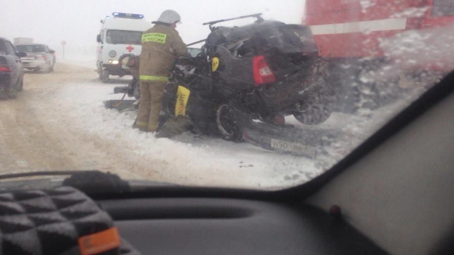 ВВоронежской области умер шофёр «Рено», столкнувшийся с 2-мя фурами