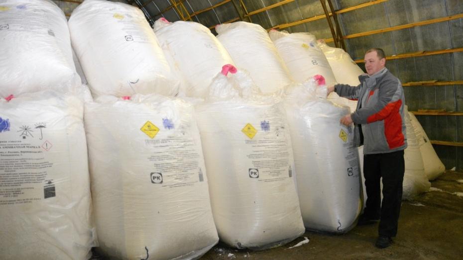 Острогожские аграрии завершили завоз минеральных удобрений