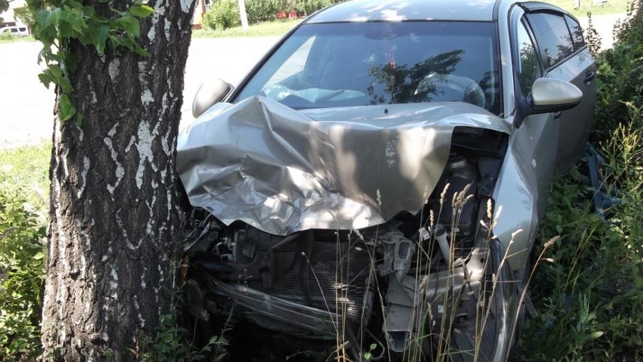 В Лисках водитель «Приоры» врезался в дерево