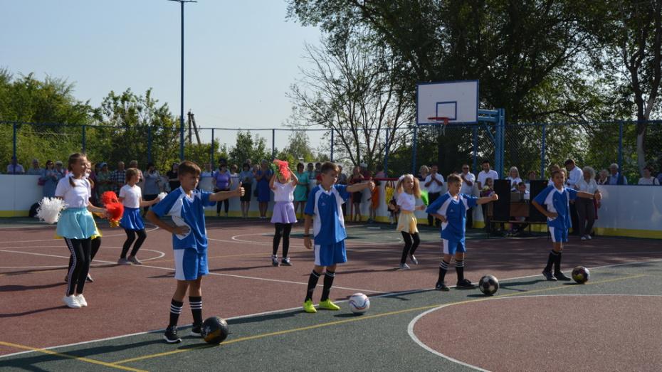 В россошанском селе Подгорное открыли 1-ю спортплощадку