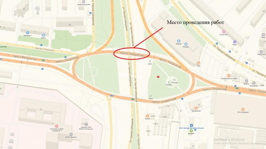 В Воронеже перекроют 1,5 полосы путепровода у Юго-Западного рынка