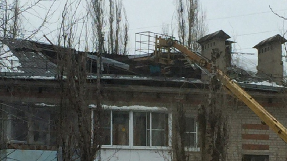 ВВоронеже обрушилась крыша пятиэтажки