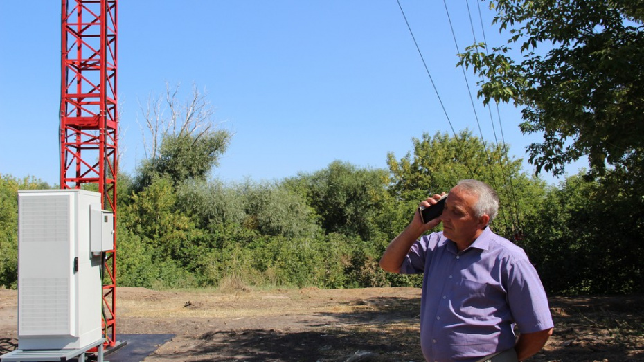В новохоперском поселке Централь установили вышку сотовой связи