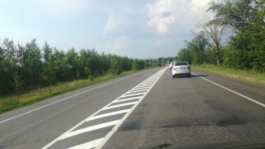 Водители пожаловались на сплошную разметку в 29 км на трассе Воронеж – Нововоронеж