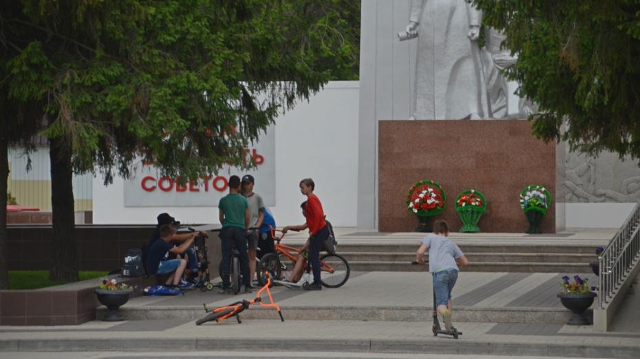 В Борисоглебске экстремалам запретят кататься у мемориала «Борцам за власть Советов»