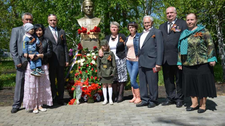 В Каширском районе открыли бюст Герою Советского Союза Илье Маслову