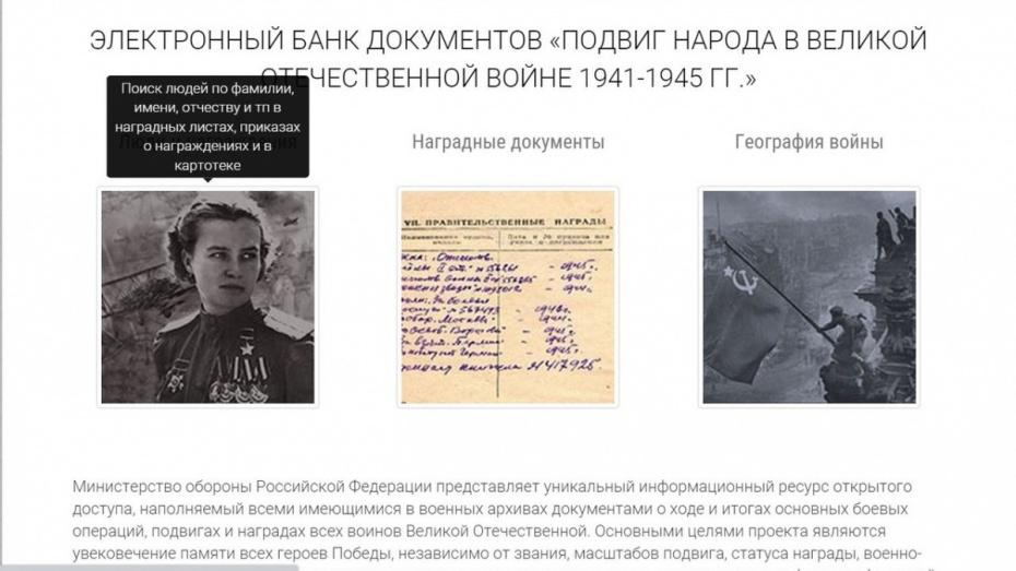 Минобороны открыло базу данных советских бойцов