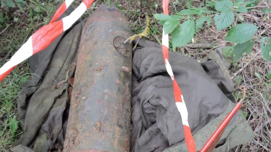 В семилукском селе нашли бомбу времен войны