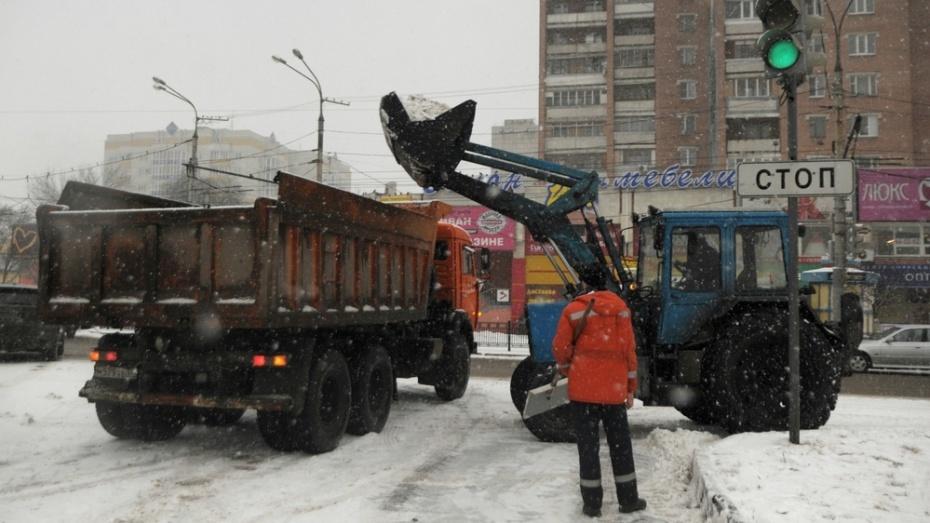 Завыходные вВоронеже убрали практически 10 000 кубометров снега