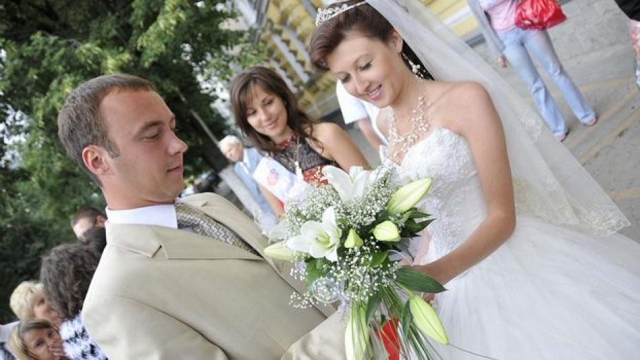 В воронежских ЗАГСАх - свадебный бум