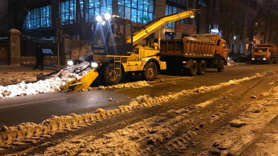 Коммунальщики Воронежа за ночь вывезли с улиц 1419 кубометров снега