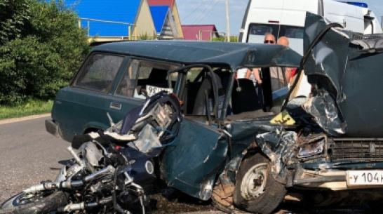В Воронежской области в аварии с ВАЗом погиб 31-летний мотоциклист