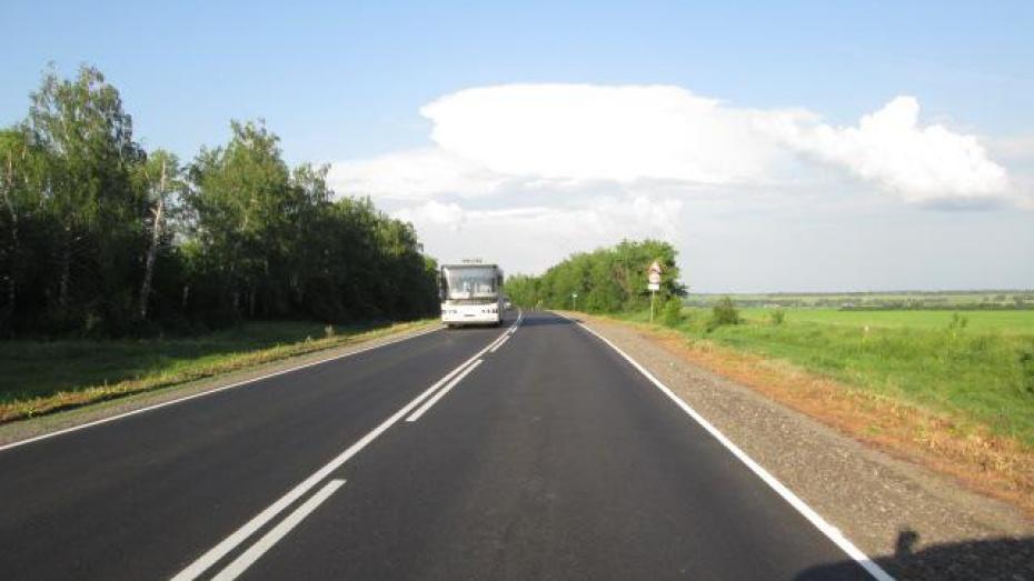В Воронежской области дорожники отремонтировали 30 км федеральных трасс