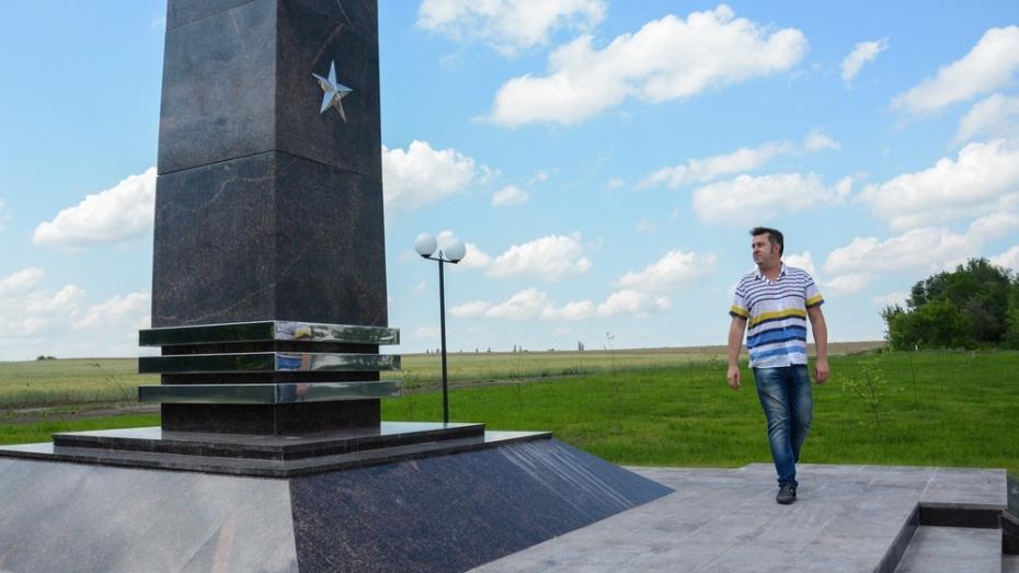 В Острогожске ветер сдул буквы с воинского мемориала