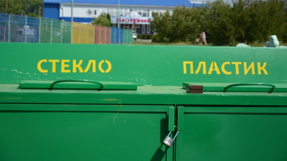 В Острогожске установили 8 контейнеров для раздельного сбора мусора