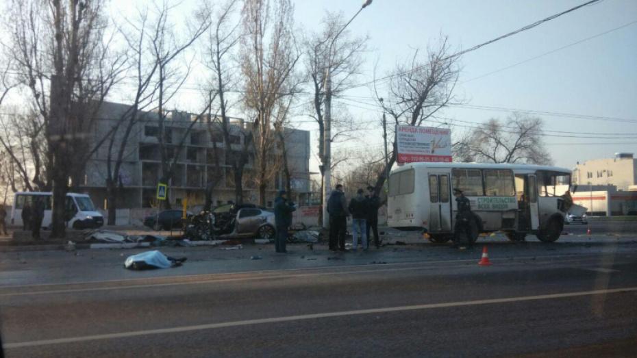 Момент ДТП с 4 погибшими в Воронеже попал на видео