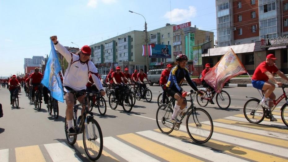 В Лисках профсоюзная организация организовала велопробег  в честь 70-летия Великой Победы
