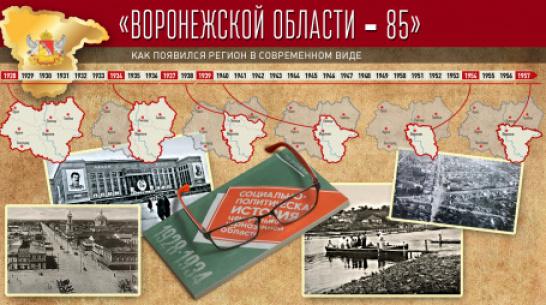 Проект «Воронежской области – 85». Как появился регион в современном виде