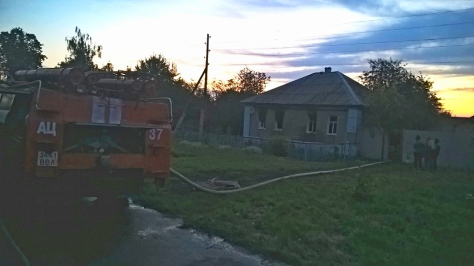 В Воронежской области во время пожара погибли мужчина и женщина