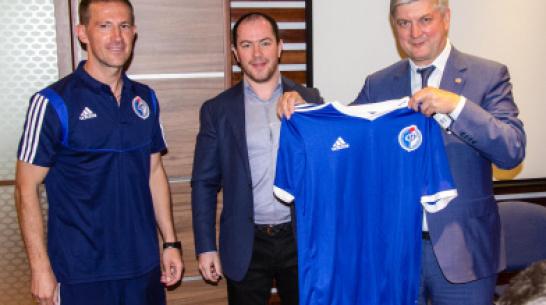 Игроки «Факела» встретились с губернатором Воронежской области