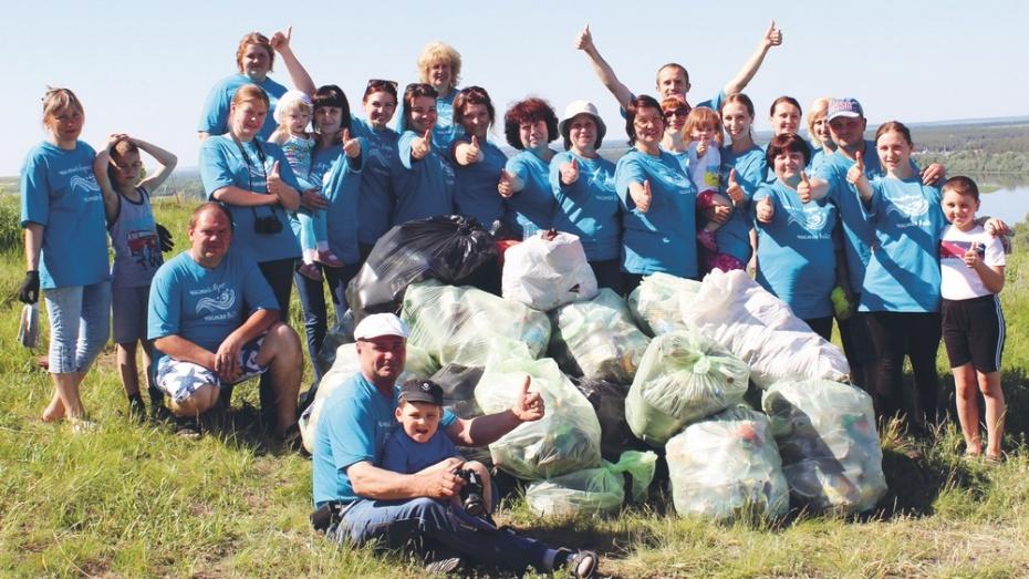Богучарцы провели акцию «Чистый берег»
