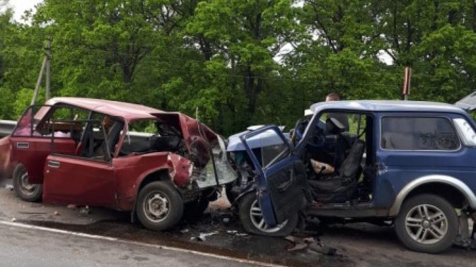 В лобовом столкновении машин в Воронежской области погибли 3 человека