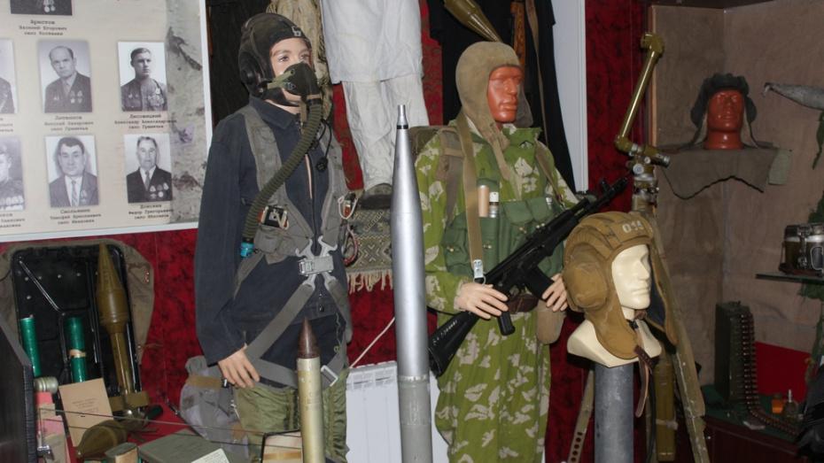 В Хохольском районе открылась выставка к 30-летию вывода советских войск из Афганистана