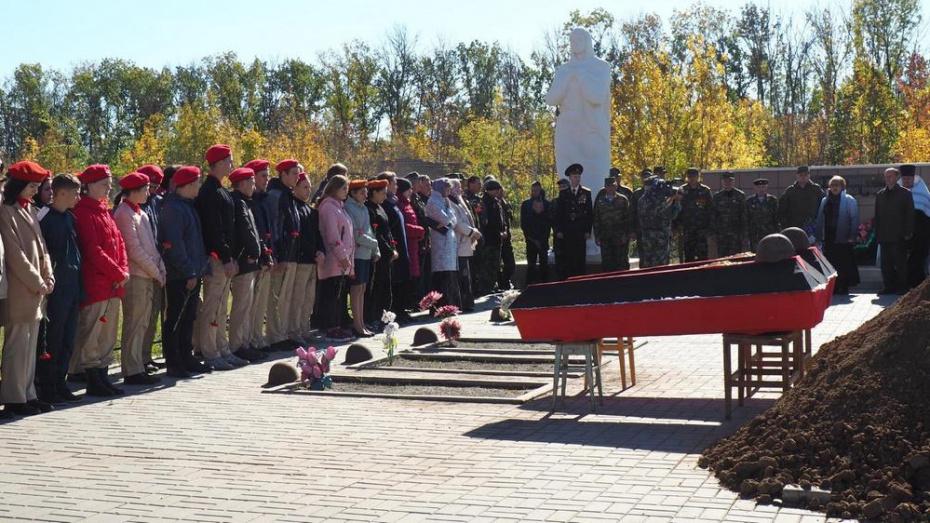 В Богучаре перезахоронили останки 31 красноармейца