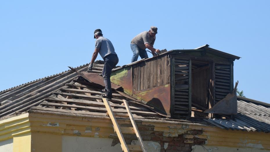 В подгоренском селе Юдино в школе впервые за 50 лет отремонтируют крышу