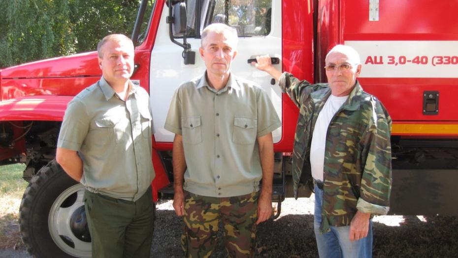 Рамонские лесоводы получили новую пожарную машину