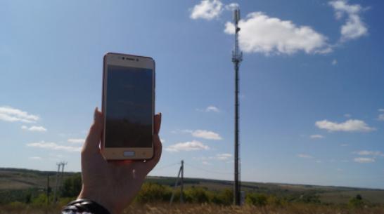 В Хохольском районе появились 2 вышки сотовой связи