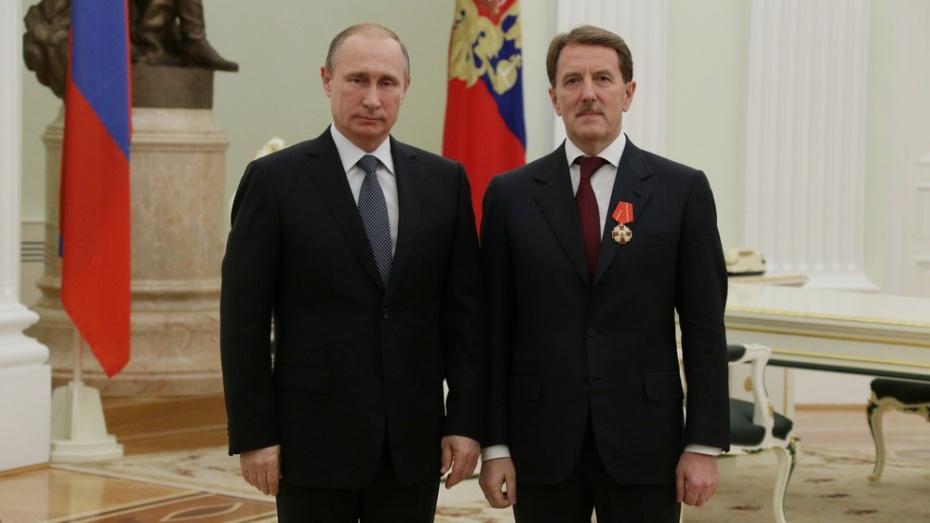 Воронежский губернатор получил орден Александра Невского