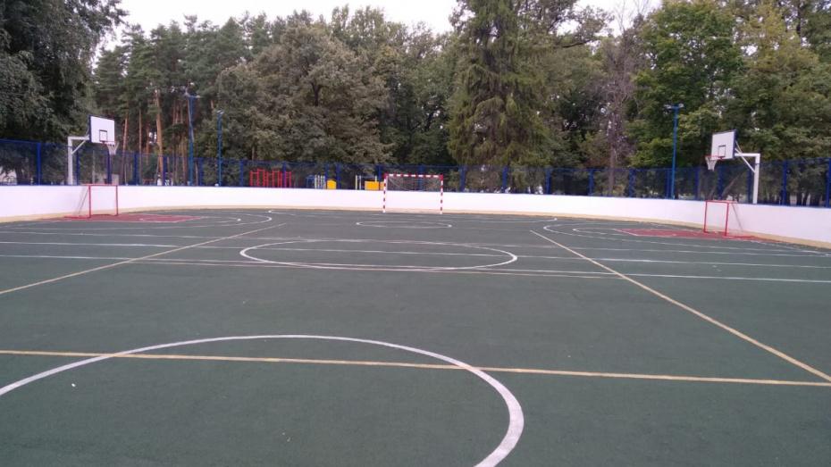 Воронежский санаторий для детей оборудовали новой спортплощадкой