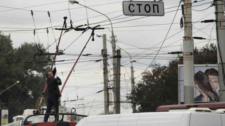 Электротранспорт в Воронеже восстановят в течение 3 лет