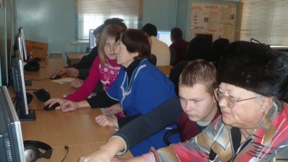 В Грибановской школе появился класс для пенсионеров