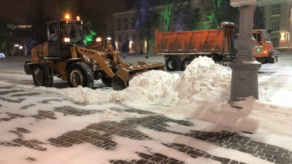 Воронежские коммунальщики за ночь вывезли 2,3 тыс кубометров снега