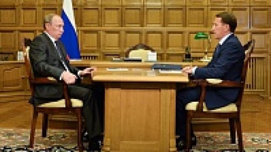 Владимир Путин: «В Воронежской области темпы роста выше, чем по стране»