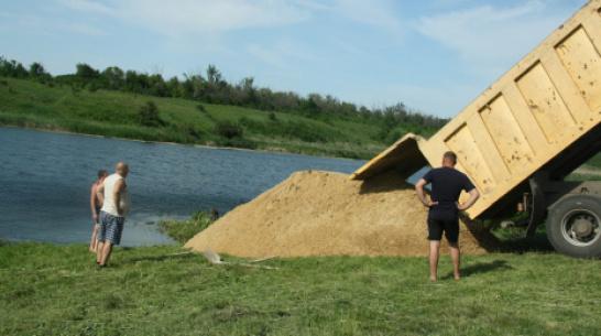 В Каменском районе активисты благоустроили пляж на Тхоревском пруду
