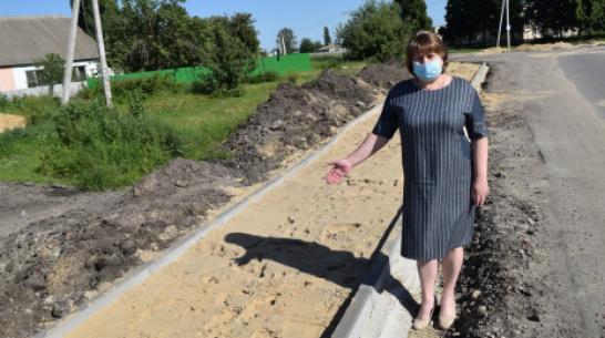 В рамонском селе Лопатки впервые построят тротуар