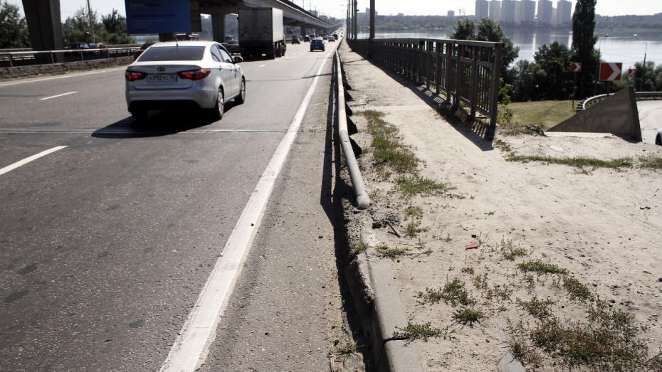На отремонтированном Северном мосту в Воронеже уберут знаки ограничения скорости