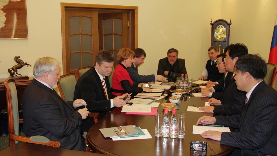 Представители Воронежской области встретились с китайской делегацией