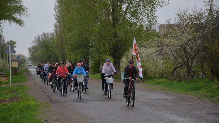 В Поворино прошел посвященный юбилею Победы велопробег