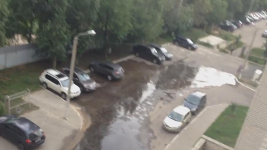 Воронежские коммунальщики 28 июля ликвидируют потоп во дворе на улице Юлюса Янониса