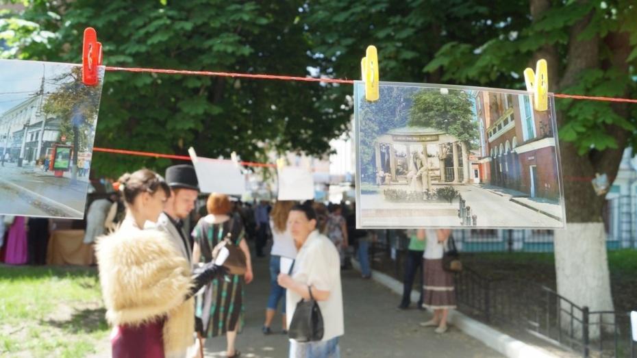 Воронежцы обменяются фотографиями города через бельевую веревку