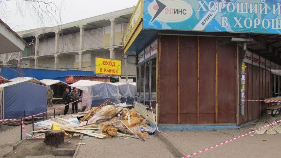 У рынка «Придача» снесли незаконные постройки