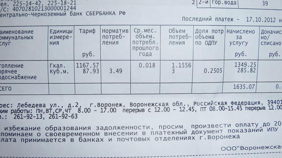 Около 28 миллионов рублей долгов за коммунальные услуги взыскали приставы с воронежцев в прошлом году